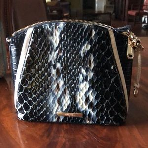 Brahmin Crossbody Black & Ivory Bag